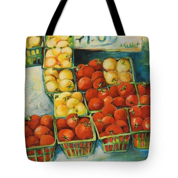 Cherry Tomatoes Tote Bag by Jen Norton