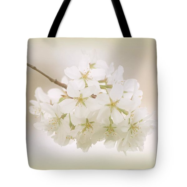 Cherry Tree Blossoms Tote Bag by Sandy Keeton