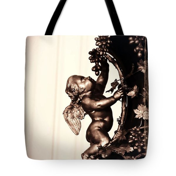 Cherub In Sepia Tote Bag by Carol Groenen