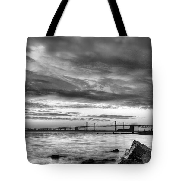 Chesapeake Mornings BW Tote Bag by JC Findley