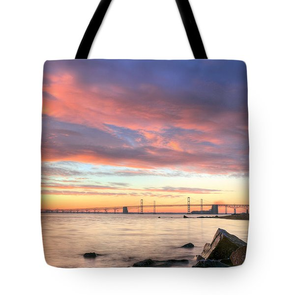 Chesapeake Mornings  Tote Bag by JC Findley