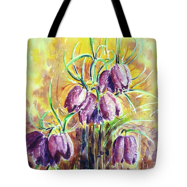 Chess Flowers Tote Bag by Zaira Dzhaubaeva