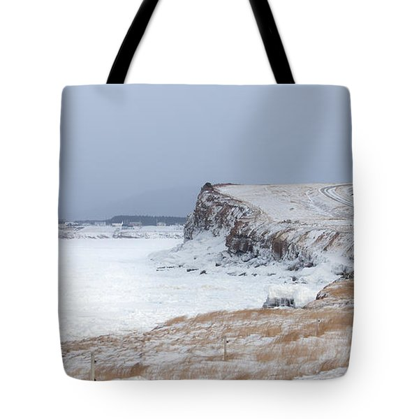 Cheticamp Harbour Entrance Tote Bag by Michel Soucy