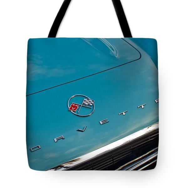 Chevrolet Corvette Hood Emblem 2 Tote Bag by Jill Reger