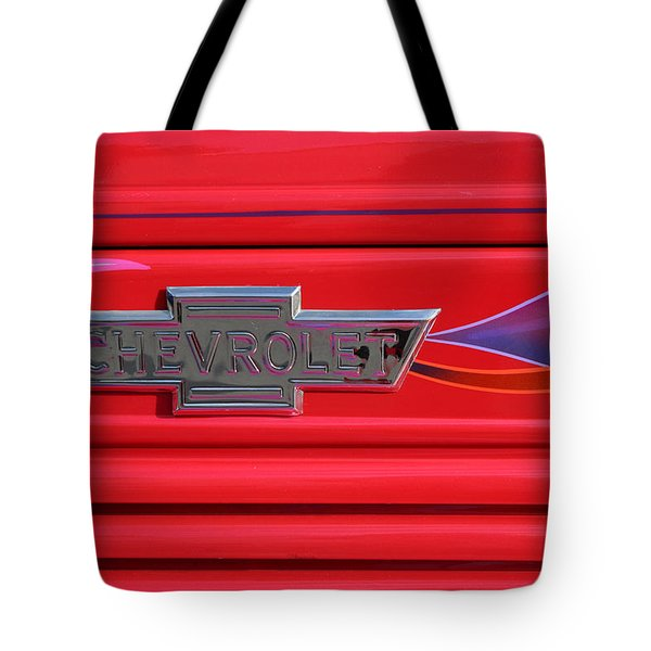 Chevrolet Emblem Tote Bag by Carol Leigh