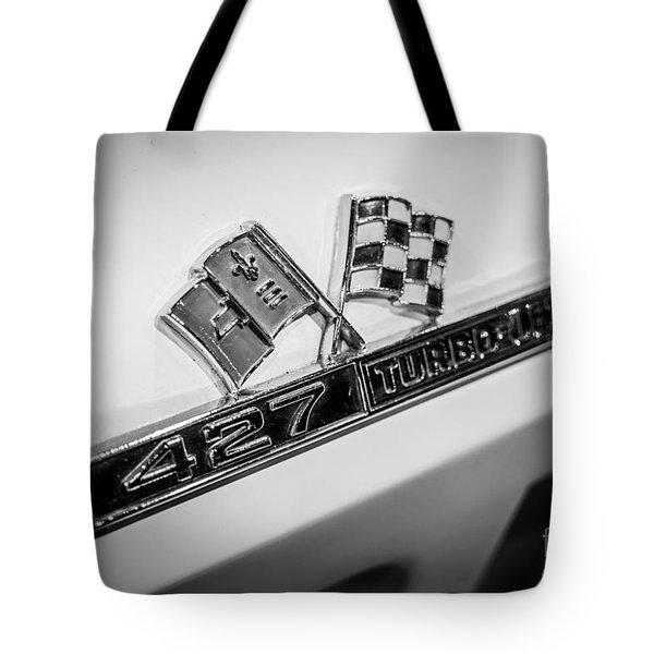 Chevy Corvette 427 Turbo-Jet Emblem Tote Bag by Paul Velgos