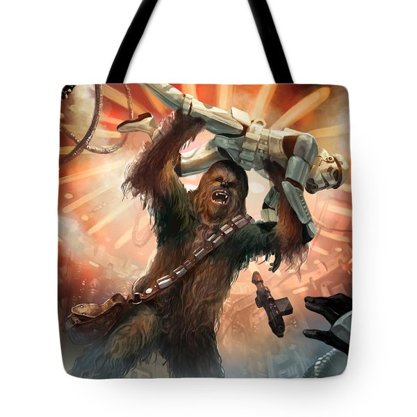 Chewbacca - Star Wars The Card Game Tote Bag by Ryan Barger