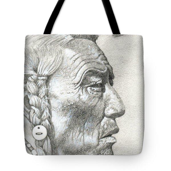 Cheyenne Medicine Man Tote Bag by Bern Miller