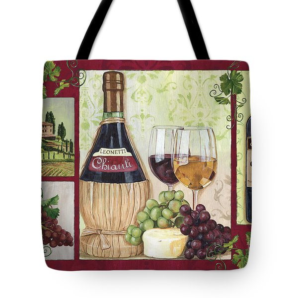 Chianti And Friends 2 Tote Bag by Debbie DeWitt