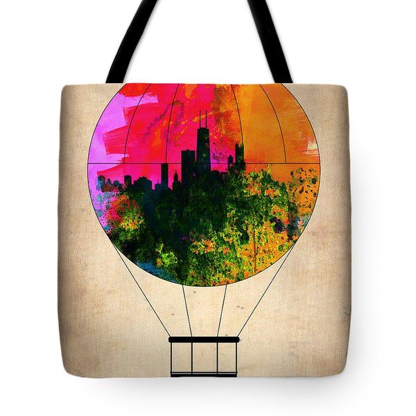 Chicago Air Balloon Tote Bag by Naxart Studio