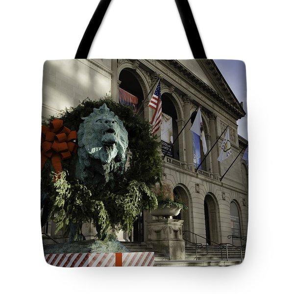 Chicago Art Institute Guardian Tote Bag by Sebastian Musial