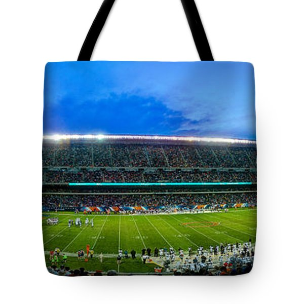 Chicago Bears At Soldier Field Tote Bag by Steve Gadomski