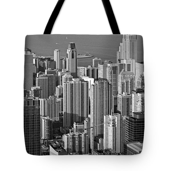 Chicago - Birds-eye-view Tote Bag by Christine Till