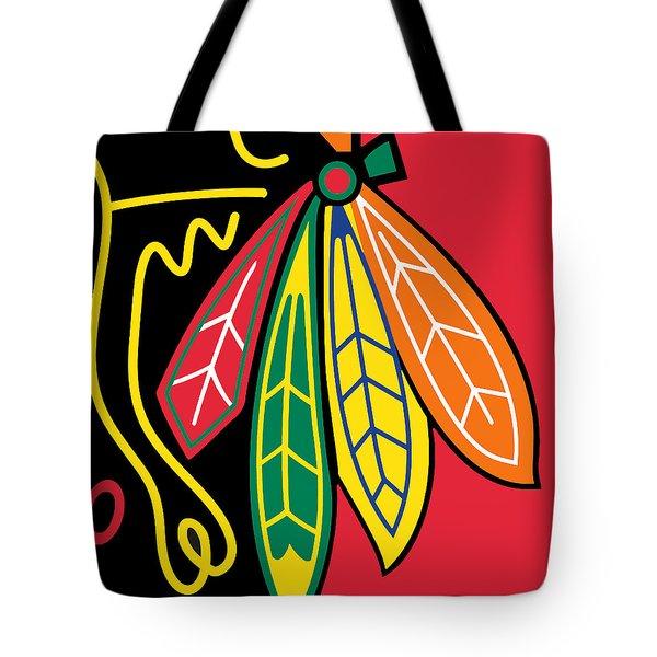 Chicago Blackhawks Tote Bag by Tony Rubino