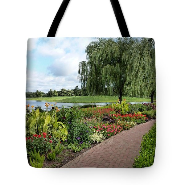 Chicago Botanical Gardens - 96 Tote Bag by Ely Arsha