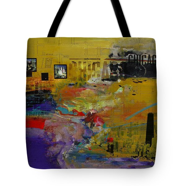 Chicago Collage 2 Tote Bag by Corporate Art Task Force
