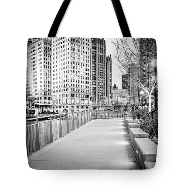 Chicago Downtown City Riverwalk Tote Bag by Paul Velgos