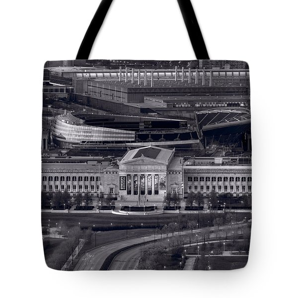 Chicago Icons Bw Tote Bag by Steve Gadomski