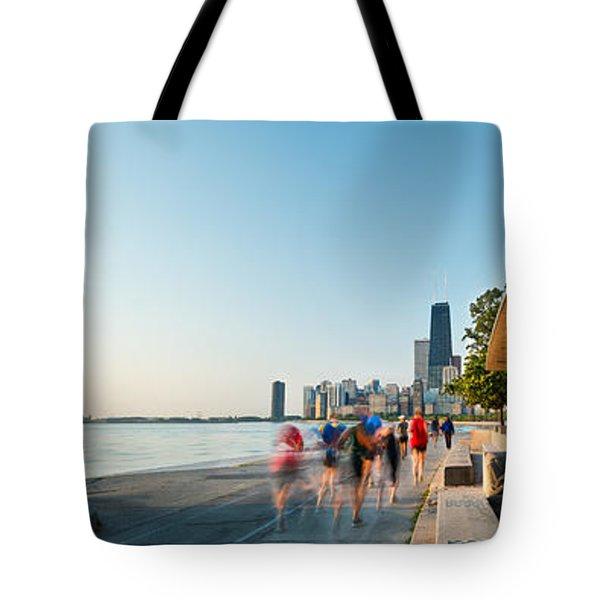 Chicago Lakefront Panorama Tote Bag by Steve Gadomski