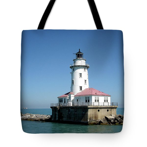 Chicago Lighthouse Tote Bag by Julie Palencia