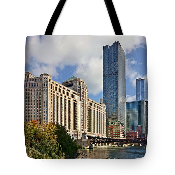 Chicago Merchandise Mart Tote Bag by Christine Till