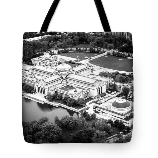 Chicago Museum Of Science And Industry Aerial View Tote Bag by Paul Velgos