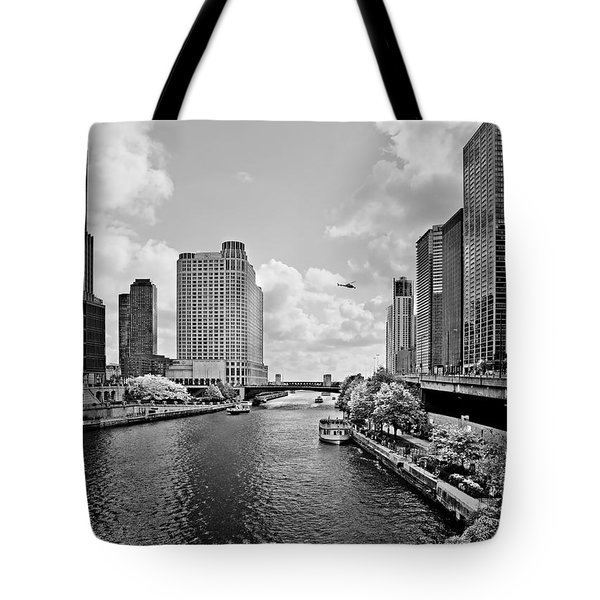 Chicago River - The River that flows backwards Tote Bag by Christine Till