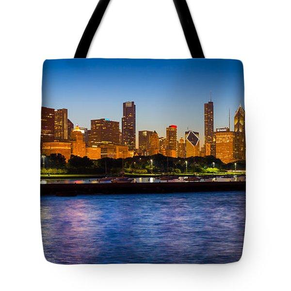 Chicago Skyline Tote Bag by Inge Johnsson