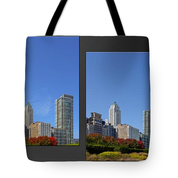 Chicago Skyline Of Superstructures Tote Bag by Christine Till