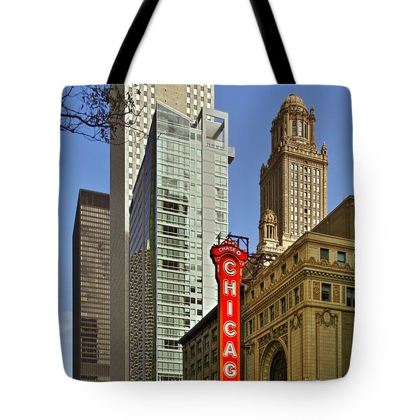 Chicago Theatre - This theater exudes class Tote Bag by Christine Till