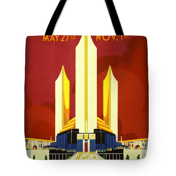 Chicago World's Fair Tote Bag by Nomad Art And  Design