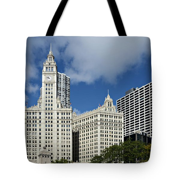 Chicago - Wrigley Building Tote Bag by Christine Till