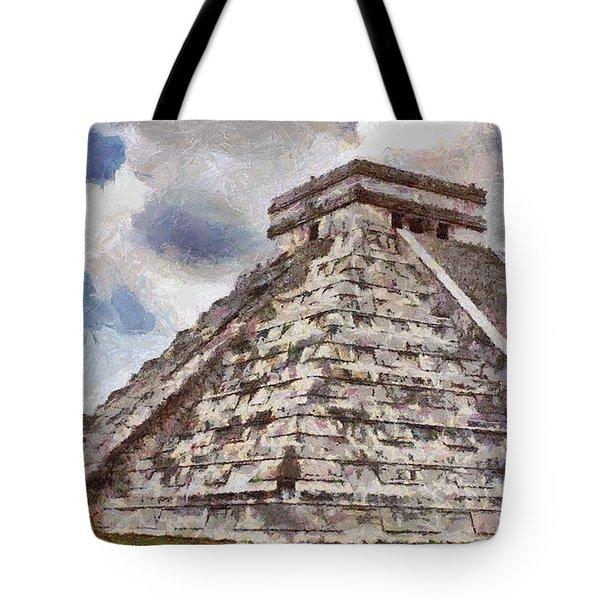 Chichen Itza Tote Bag by Jeff Kolker