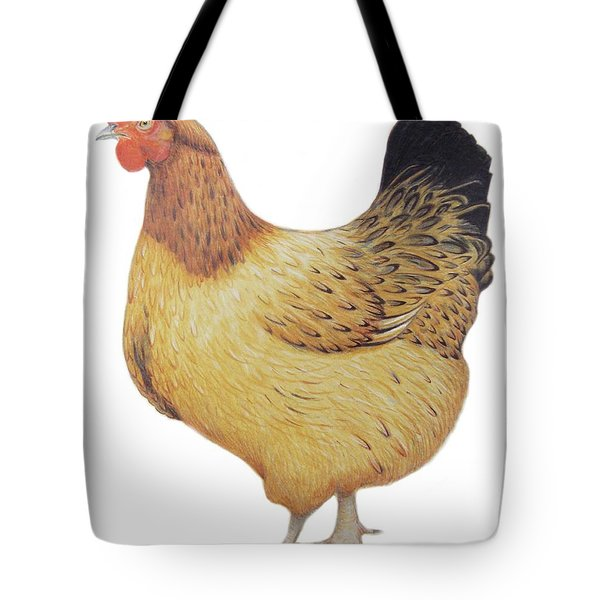 Chicken Tote Bag by Ele Grafton
