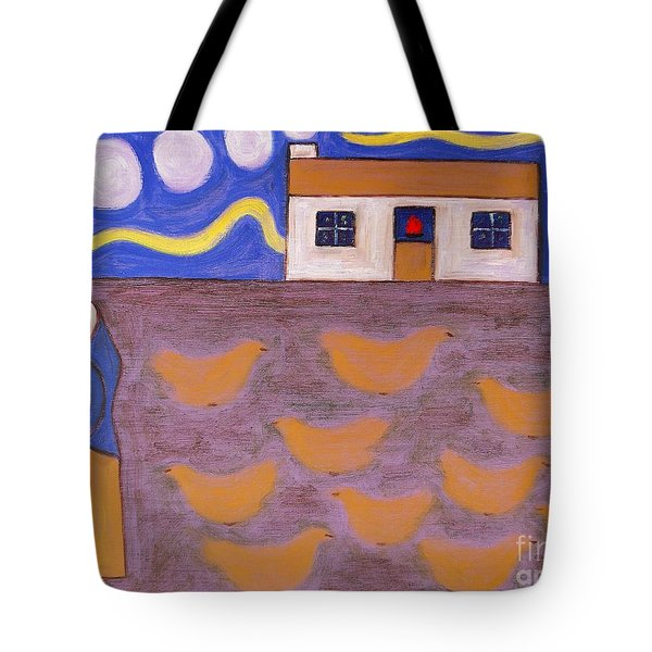 Chickens Tote Bag by Patrick J Murphy