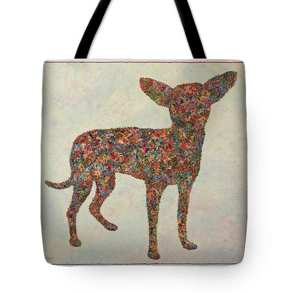 Chihuahua-shape Tote Bag by James W Johnson