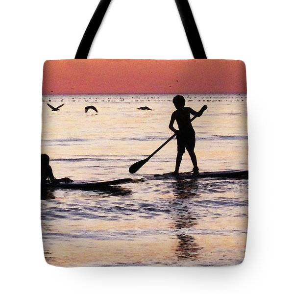 Child Art - Magical Sunset Tote Bag by Sharon Cummings