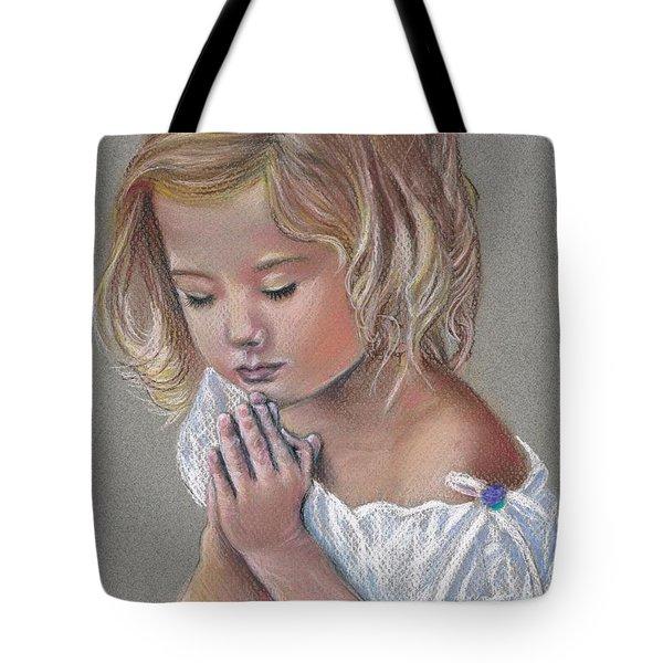 Child In Prayer Tote Bag by Tonya Butcher