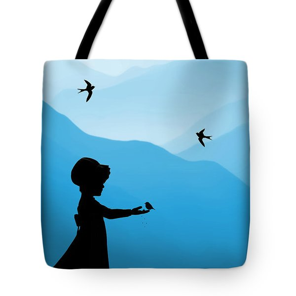 Childhood Dreams 5 Feeding Time Tote Bag by John Edwards