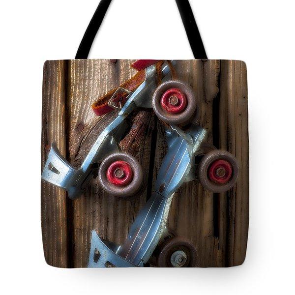 Childhood Skates Tote Bag by Garry Gay
