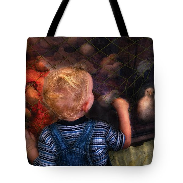 Children - Look At The Baby Tote Bag by Mike Savad