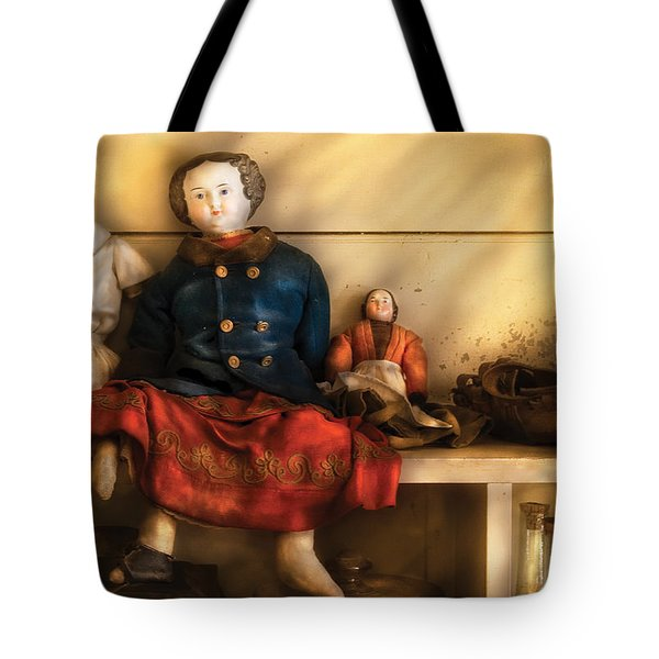 Children - Toys - Assorted Dolls Tote Bag by Mike Savad