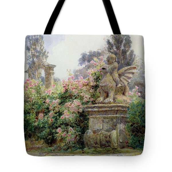China Roses Villa Imperiali Genoa Tote Bag by George Samuel Elgood