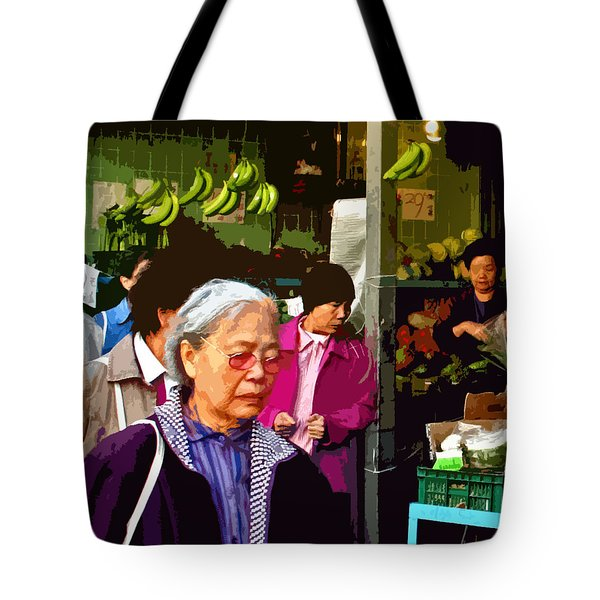 Chinatown Marketplace Tote Bag by Joseph Coulombe