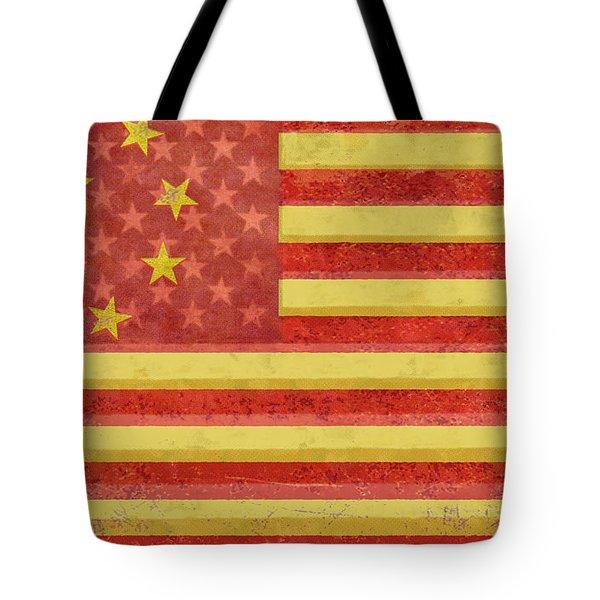 Chinese American Flag Blend Tote Bag by Tony Rubino