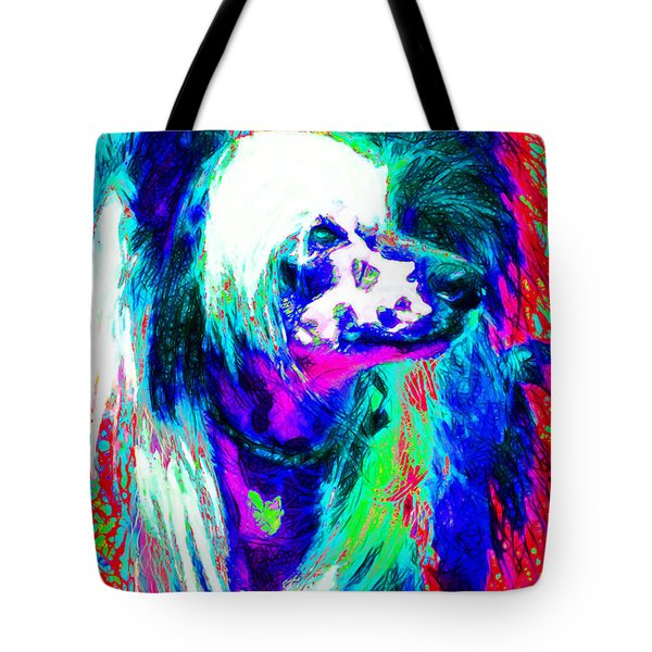 Chinese Crested Dog 20130125v3 Tote Bag by Wingsdomain Art and Photography