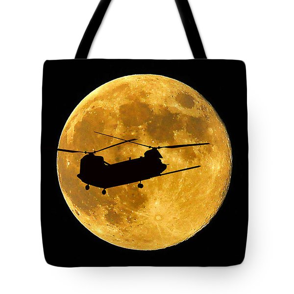 Chinook Moon Color Tote Bag by Al Powell Photography USA