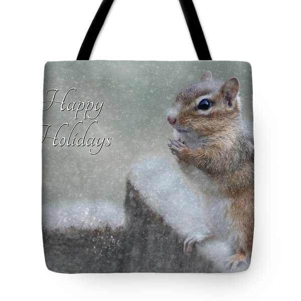 Chippy Christmas Card Tote Bag by Lori Deiter