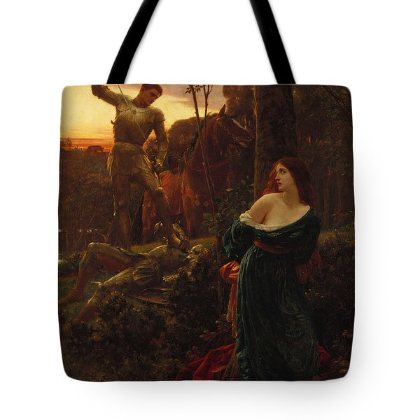 Chivalry Tote Bag by Sir Frank Dicksee