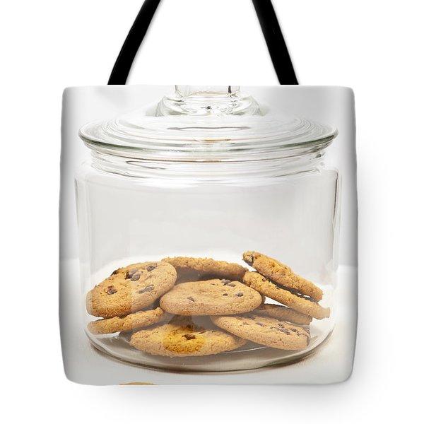 Chocolate Chip Cookies In Jar Tote Bag by Elena Elisseeva